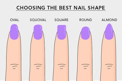 These are the main nail shapes. Ezek a fő körömformák.